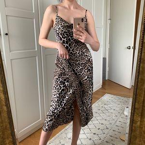 Vici Dolls Leopard Print Midi Dress